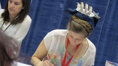 Diana Peterfreund signing.