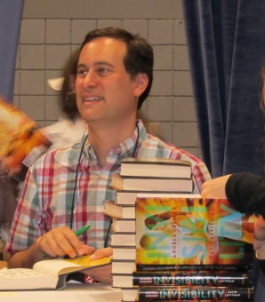 David Levithan signing Invisibility